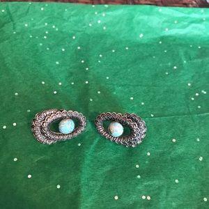 Vintage Screw On Silver Earrings
